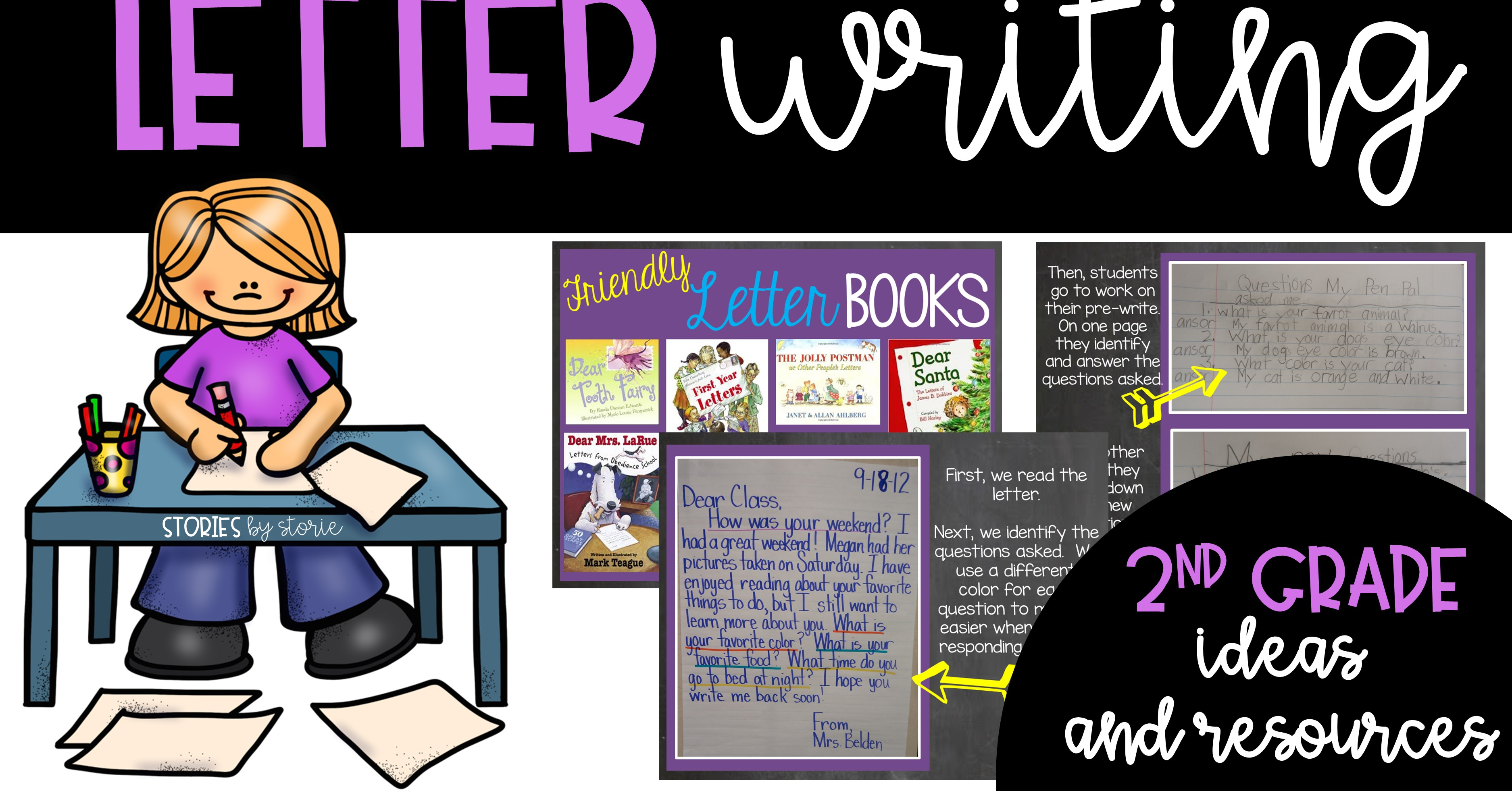 Friendly Letter Writing in 2nd Grade Ideas and Resources