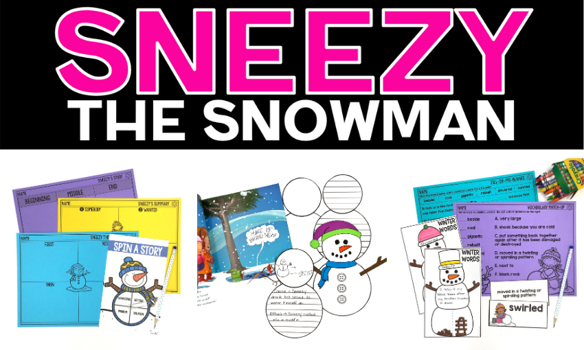 Are you reading Sneezy the Snowman by Maureen Wright to your class this month? I want to share a few activities you can pair with this story that your students will enjoy!