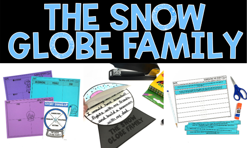 What would it be like to live in a snow globe? Would the days be filled with sledding, snowball fights, and ice skating? Jane O'Connor has imagined a world with two families: one inside and one outside the snow globe. This story is a perfect read aloud to share in winter when students long for days to play in the snow. I want to share several activities you can pair with The Snow Globe Family.