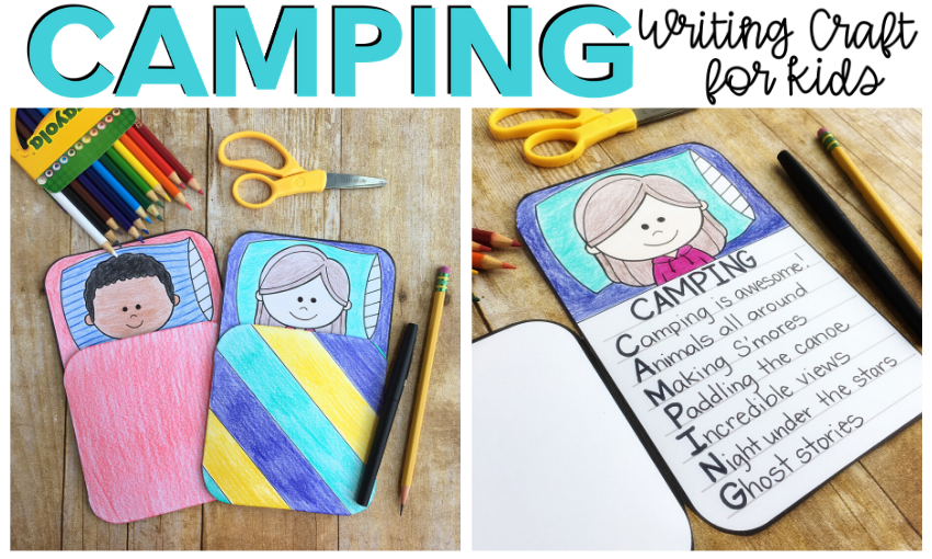 With warmer temperatures, kids are bound to spend more and more time outdoors. Many kids dream of going camping. Whether your camping trip is in the great outdoors, in a backyard tent, or an indoor fort, there are bound to be memories made. Not only do I have a fun camping craft to share, but I also have some great camping books for kids that you can pair with it!