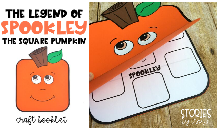 The Legend of Spookley the Square Pumpkin by Joe Troiano is a great picture book choice for October! This fictional story of a square pumpkin provides the reader with a message of celebrating differences and helping others. I want to share a pumpkin craft booklet that you can use with your students when reading this story.