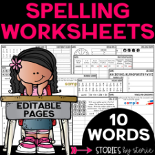 Spelling Worksheets 10 Words